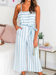 Casual Striped One-Pieces
