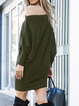 Casual Solid One Shoulder Dresses