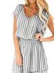 Plus Size Sweetheart Stripes Cotton-Blend Holiday Dresses