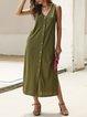 Sleeveless V Neck Dresses