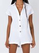Plus Size Short Sleeve Shirt Collar One-Pieces