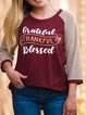 New European and American ladies hot sale round neck stitching printed short sleeve T-shirt