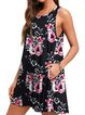 Printed Sleeveless Round Neck Cotton-Blend Dresses