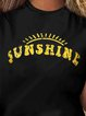 Vintage Short Sleeve Sunshine Letter Printed Plus Size Casual Tops