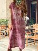 Summer Casual Cotton V Neck Maxi Dresses