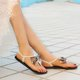 Artificial Leather Bowknot Summer Sandals