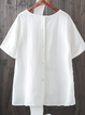 Casual Short Sleeve Cotton Shirts & Tops