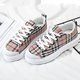 Canvas Lace-Up check pattern Sneakers