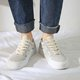Blue Canvas Summer Lace-Up Sneakers
