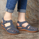 Wedge Heel Closed Toe Summer Hollow-Out Sandals