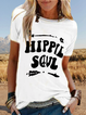 Casual Letter Printed Short Sleeve Crew Neck T-shirt