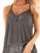 V Neck Casual Sleeveless Shirts & Tops