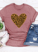 Printed Casual Short Sleeve Cotton-Blend Shirts & Tops