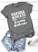 Casual Letter Short Sleeve Shirts & Tops