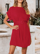 Solid Casual Short Sleeve Dresses