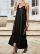 Casual Cotton-Blend Solid Dresses