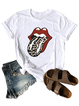 Short Sleeve Casual Printed Cotton-Blend Shirts & Tops