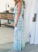 Color-block Spaghetti-Strap Casual Dresses
