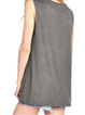 Letter Crew Neck Sleeveless  Casual Shirts & Tops