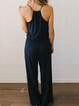 Cotton-Blend Solid Casual One-Pieces