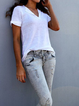 Plus Size Casual Short Sleeve Tee Shirts Tops