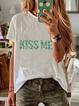 Short Sleeve Casual Paneled Shirts & Tops