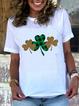Cotton-Blend Casual Geometric Shirts & Tops