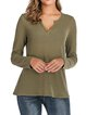 Embossed Long Sleeve Casual Shift Shirts & Tops