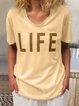 Casual V Neck Short Sleeve Shirts