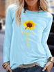 Long Sleeve Floral-Print Casual Shirts & Tops