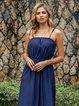 Blue Off Shoulder Boho Dresses