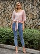 Pink Shift Half Sleeve Shirts & Tops