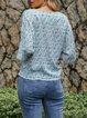 Blue V Neck Holiday Shirts & Tops