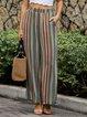 Flower Stripes Boho Pants
