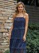 Purplish Blue Tulle Solid Sweet Dresses