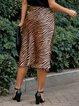 Coffee Leopard Sexy Skirts
