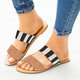 Summer Leather Casual Slippers