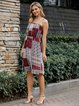 Wine Red Ethnic Off Shoulder Dresses