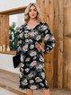 Blue Shift Floral Boho Dresses