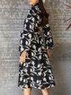 Black Long Sleeve Boho Dresses