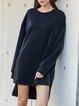 Black Casual Shift Solid Dresses