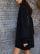 Black Casual Solid Dresses