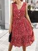 Vintage A-Line V Neck Dresses