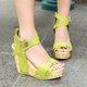 Summer Buckle Wedges Sandals