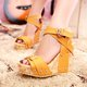 Summer Buckle Wedges Sandals