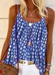 Round Neck Polka Dots Sleeveless Holiday Shirts & Tops