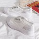 Breathable Lace-Up Platform Sneakers