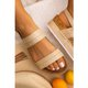 Pi Clue Leather Casual Flat Heel Sandals