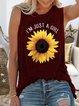 Sleeveless Cotton-Blend Boho Shirts & Tops