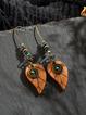 Vintage Wooden Earrings